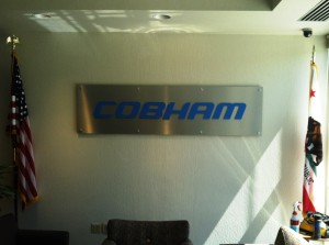 Classy Lobby Sign on Brushed Aluminum Panel - Cobham