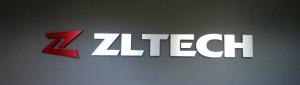 Custom Lobby Sign - Brushed Aluminum Laminated Acrylic - ZL Tech