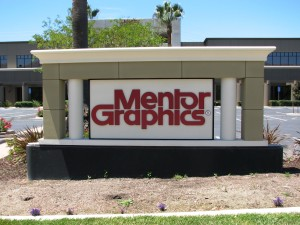 Custom Monument Sign with Dimensional Lettering - Mentor Graphics