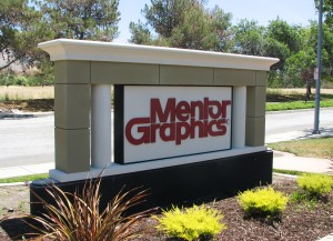 Custom Monument Sign - Mentor Graphics