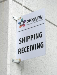 Shipping and Receiving Sign - Progyny