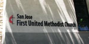 Custom Aluminum Building Letters - San Jose First United Methodist Church