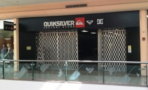 Custom Acrylic Logo and Blade sign - Quicksilver Factory Store