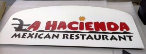 Monument Panels - Custom LED Channel Letters & Logo - La Hacienda Restaurant