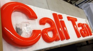 Formed Letters Sign in Process - Cali Tan