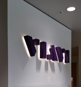 Illuminated Lobby Sign - Viavi