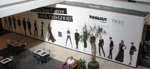 Barricade Graphics - Toni & Guy - Eastridge Mall