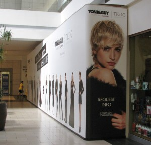 Barricade Graphics - Toni & Guy - Eastridge Mall