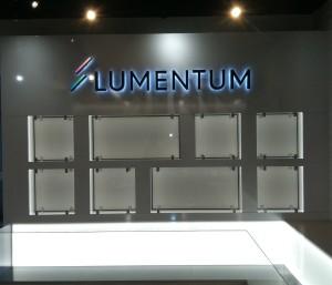 Halo-Lit Lobby Sign - Lumentum
