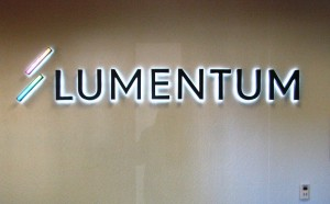 Halo-Lit Lobby Sign - Lumentum