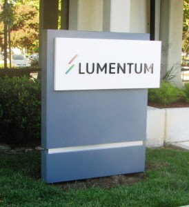 Monument Sign with Dimensional Letters - Lumentum