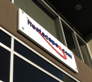 Custom Building Sign with Dimensional Lettering and Logo - Heatscape