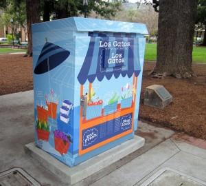 Full Color Digital Print Graphics on Utility Box - City of Los Gatos