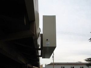 LED Illuminated Cabinet Sign Side View - Cedar Tree Plaza