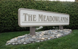 Monument Sign - HDU Sandblasted - The Meadowlands