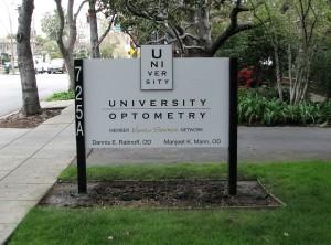 Custom Post and Panel Monument - University Optometry