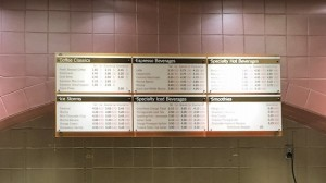 Custom Menu Board - Nordstrom Coffee Bar
