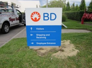 Directory Monument Sign - BD Biosciences