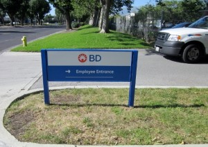 Post and Panel Sign - BD Biosciences