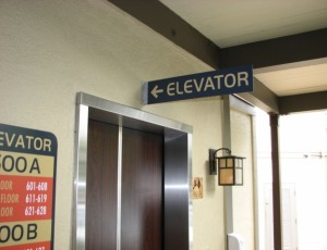 Elevator Panel Sign - Dinah's Hotel