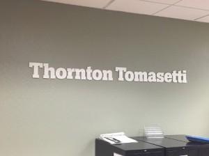 Dimensional Lobby Sign - Thornton Tomasetti