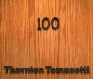 Office Door Letter Signs - Thornton Tomasetti
