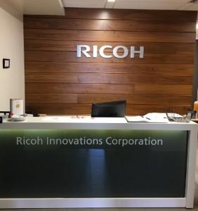 Brushed Aluminum Lobby Sign - Ricoh