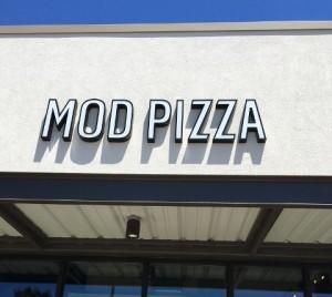 LED Channel Letters - MOD Pizza