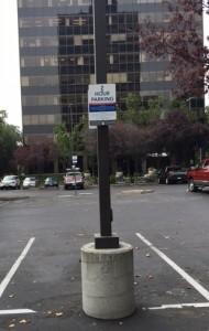 Aluminum Parking Sign - The Pruneyard