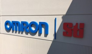 Reverse Pan Building Letter Sign - OMRON/STI