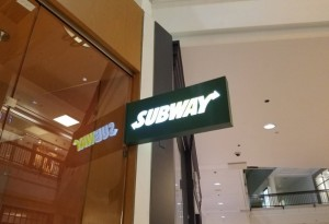 Illuminated Blade Sign - Subway