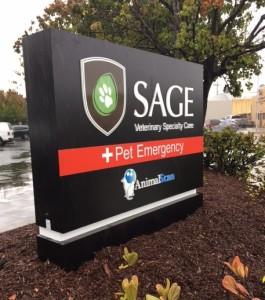 Illuminated Monument Sign - Sage Veterinary