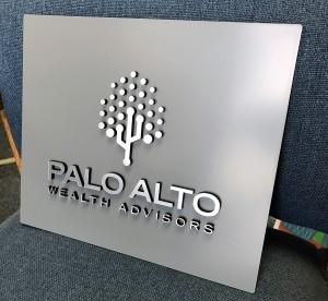 Custom Dimensional Suite Sign - Palo Alto Wealth Advisors