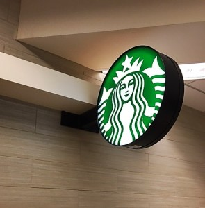 Starbucks Logo Sign - San Jose Airport