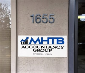 Panel Sign and Building Numbers - MHTB Accountancy