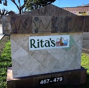 Monument panel Sign - Rita's